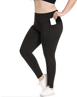 YOHOYOHA Women's Fleece Lined Plus Size Yoga Leggings High Waist Thick Stretchy Slimming Warm