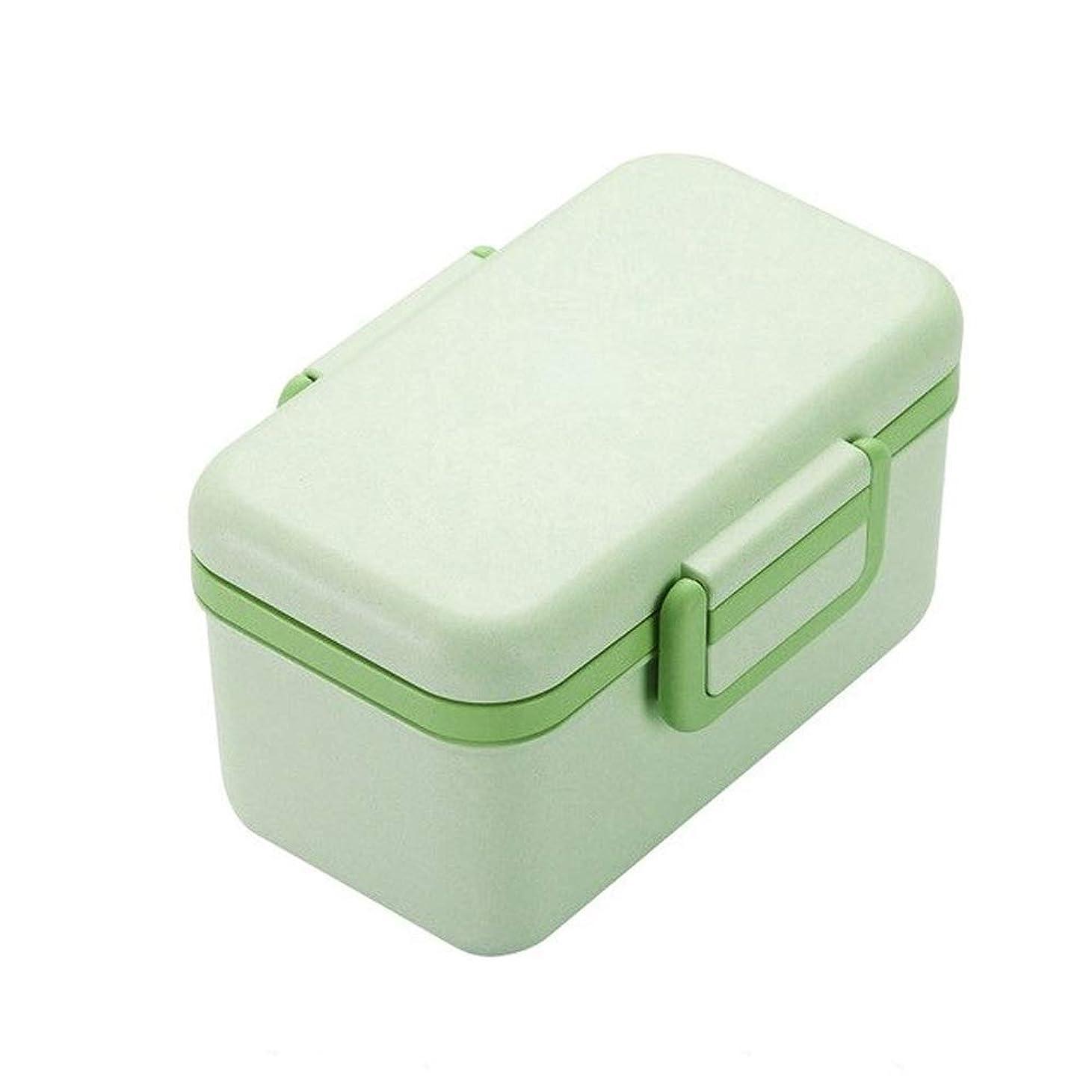 腹痛整理するキャプテンJPYLY BPAフリーランチボックス環境に優しい素材竹繊維のピクニックのためのポータブル弁当箱食品保存容器Microwaveble (Color : 緑)