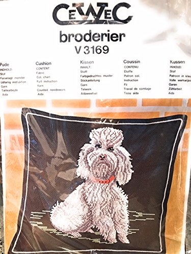 Broderier Counted Cross Stitch Kit Dog Pillow 35x36cm Made in Denmark