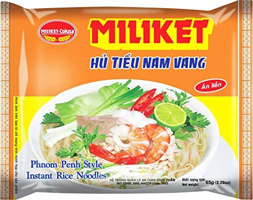 Miliket Fideos Instantáneos De Arroz Sabor Carne De Ternera (Estilo Phnomh Penh) 60 g