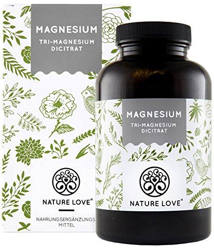 Magnesium - 2010mg Magnesiumcitrat, davon 322mg elementares Magnesium pro Tagesdosis. 180 Kapseln. Laborgeprüft und ohne Magnesiumstearat Zusätze. Hochdosiert, vegan, hergestellt in Deutschland