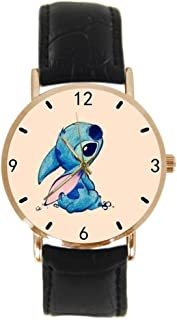 Lilo And Stitch Quotes Custom Design Stylish Sports Leather Gold Watch Men And Women - The Best Gift