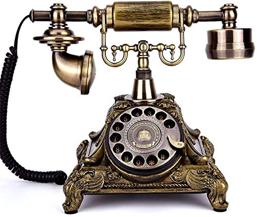 Teléfonos Retro Vintage Teléfono Retro Teléfono Rotary Teléfono Teléfono Retro Teléfono Teléfono Vintage Teléfono Clásico Teléfono de Escritorio Clásico con Marcador rotatorio (Copas de imitación