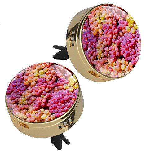 MUOOUM Frutas de uva coche Perfume ambientador de aire clip de ventilación fragancia coche olor ambientador difusor de perfume