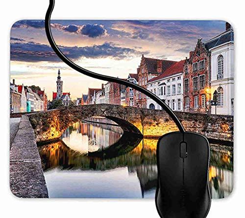 Preisvergleich Produktbild Mauspad Brügge-Stadt scape Belgien Rutschfeste Gummi Basis Mouse pad,  Gaming mauspad für Laptop,  Computer 1F2444