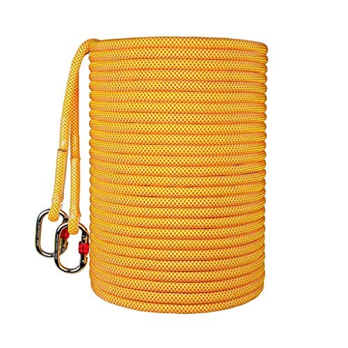 Rope RENJUN- Braided Length 50m Hot Melt Cutting Head Soft and Easy to Knot Used for Awning Tie Climb Farm Work Yellow (Size : 12mm)