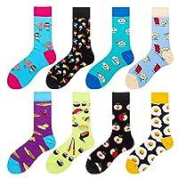 ♥8 Paire ♥ La haute qualité offre la meilleure expérience pour vos pieds. ♥Les chaussettes folles drôles pour ceux qui sont intéressés, montrent leur charme, suivent la tendance du temps. ♥Un cadeau parfait pour votre famille, votre ami et quelqu'un ...