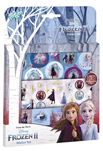 Frozen II 680692 Disney Stickerset: 3 Stickerbögen mit zauberhaften Motiven von Anna & ELSA, Olaf und einem Landschaftsmotiv, Mehrfarbig