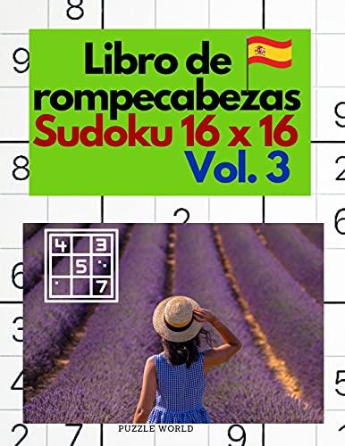 Libro de rompecabezas Sudoku 16 x 16 Vol. 3