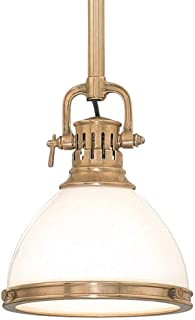 Hudson Valley 2623-AGB, Randolph Cone Pendant, 1 Light, 60 Total Watts, Brass
