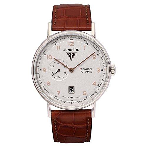 Junkers Herren Analog Automatik Uhr mit Leder Armband 67044
