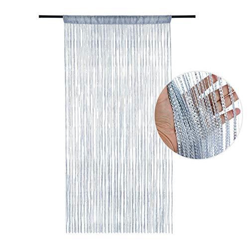 DAWEIF Hanging Beaded Curtain String Door Window Curtains Tassel Line Divider Drape(White)