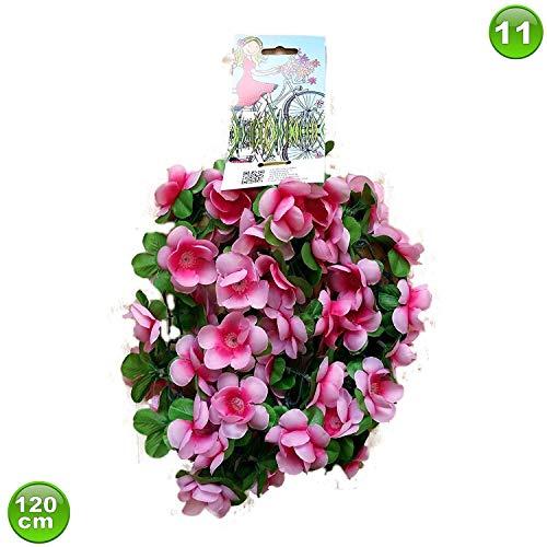 Unbekannt Fahrradgirlande Blumengirlande Blume Pinktöne 120 cm