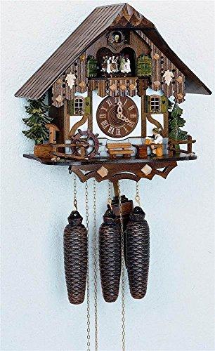 Preisvergleich Produktbild Kuckucksuhr 8-Tages-Uhrwerk Chalet-Stil 32cm von Anton Schneider - Original aus dem Schwarzwald
