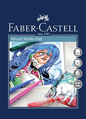 Faber-Castell Creative Studio Mischtechnik-Block, A3 250 g / m² Block mit 30 Blatt