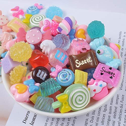 AMOYER 10pcs Candy Supplies Accessori della Decorazione Cassa del Telefono per DIY Filler in Miniatura in Resina Torta Frutta Caramella di Cioccolato