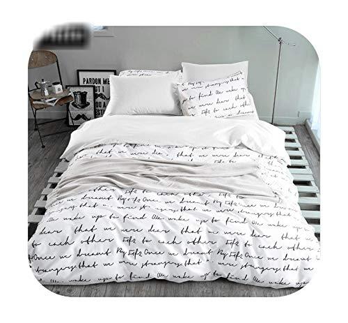 Set di biancheria da letto con copripiumino per letto king size, set di biancheria da letto, 4 pezzi, colore: grigio e bianco