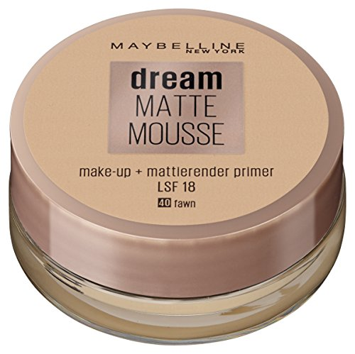 Maybelline New York Make Up, Dream Matte Mousse Make-Up, Mattierend, Nr. 40 Fawn