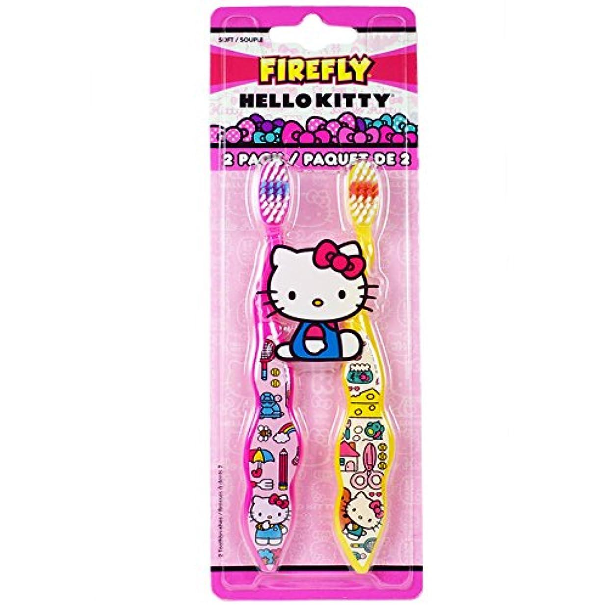 借りる熱評議会Dr. Fresh Firefly Hello Kitty Toothbrush, Soft by Firefly