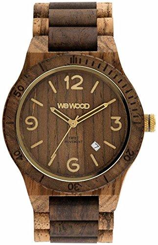 WeWood Herren-Uhr Alpha SW Zebrano Choco Rough WW08011