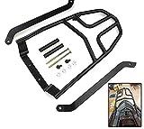 RONGLINGXING Pieces de Sport Motorise Noir moto Porte-bagages arrière en aluminium Prolonger Cargo Bag Case...