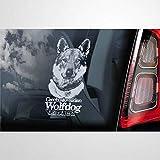 Pegatina de vinilo para coche, diseño de perro lobo checoslovaco a bordo, decoración para ventana, parachoques, portátil, paredes, ordenador, vaso, taza, teléfono, camión, accesorios de coche