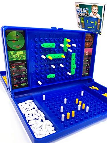 Dedimi Sea Battle Brettspiel für Kinder – Traditionelle Strategiespiele mit Schlachtschiffen, U-Boot und Flugzeugträgerspielzeug