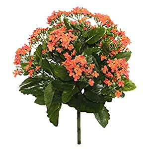 Vickerman Kalanchoe Bush Artificial-Flowers, 15″, Orange