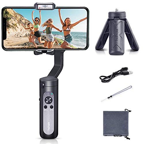 Hohem iSteady Pro 2 Water Splash Proof Gimbal Stabilizer for Osmo Action GoPro Hero 7/6/5/4/3 SJCAM RX0 Inception Mode Action Camera Gimbal Stabilizer (2019 Newest Version)