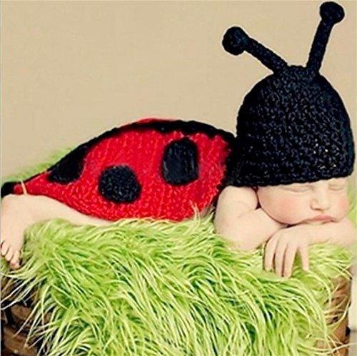 PEPEL Bébé Photographie Prop Infantile Costume Belle Beetle Set