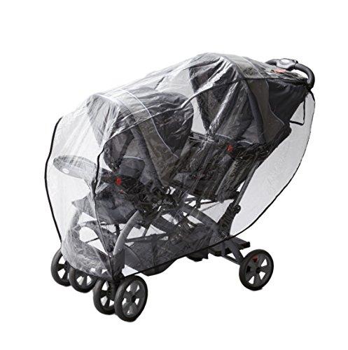 日本育児 Good-Baby 二人乗りベビーカー用レインカバー 縦型