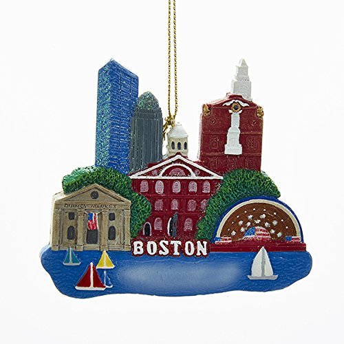 Kurt Adler Boston Massachusetts Scene Christmas Tree Ornament Charles River USA A1652 New