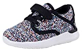 COODO Toddler Kid's Sneakers Boys Girls Cute Casual Running Shoes (5 Toddler,Black Multi)
