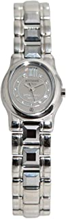 Casual Watch for Women by Accurate, Silver, Oval, ALQ135S