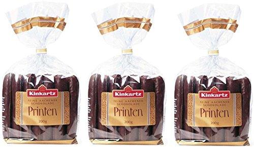 Kinkartz Schokoladenprinten -- 3 x 200g -- Weiche Printen mit edler Zartbitterschokolade überzogen, gebacken nach traditionsreichem Kinkartz Hausrezept.