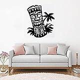 Geiqianjiumai Design Baum Applique Wandhauptdekoration Bar Kunst Strand Meer Totem Palm Innenwandtattoo Poster 42X49CM