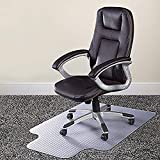 Azadx Chair Mat for Carpets, Transparent Low/Medium Pile Carpets Computer Chair Floor Protector for Office and Home, 36' x 48' with Lip