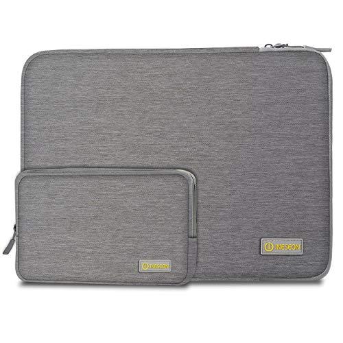 I INESEON Laptop Hülle 14 Zoll Tasche Notebook Schutzhülle Sleeve mit Zubehörtasche für HP EliteBook 840/Stream 14, Lenovo IdeaPad ThinkPad 14, Acer Aspire 14, Dell Chromebook 14, Grau