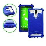 Archos 45 Titanium Coque arrière façon cuir bleu contours en silicone gel anti-chocs by PH26
