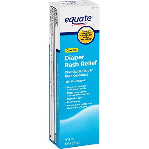 Equate Creamy Diaper Rash Relief Zinc Oxide Ointment, 4 oz