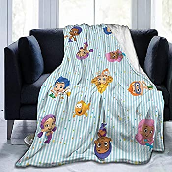 GIPHOJO Soft Micro Fleece Blanket Bubble Guppies Plush Throws Blanket for Children Kids Boys Girls for Bed Sofa Couch Chair Lightweight for All Seasons Gifts 50 X40