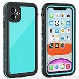 iPhone 11 Waterproof Case with Screen Protector Full Body Protector Shockproof Dustproof Dirtproof Heavy Duty IP68 Waterproof Case for iPhone 11(6.1inch) (Teal)