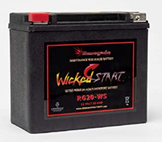 Snowmobile Replacement Battery; RG20-WS; Fits Arctic Cat (2007, 2008) F1000 EFI LXR; 500+ CCA'S