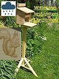 Qualität aus Niederbayern ARBRIKADREX Eichhörnchenfutterhaus Eichhörnchen Haus Kobel mit Ständer.