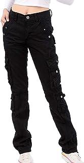 Donna Pantaloni Lunghi Donna A Wita Media Tasche Multiple Slim Fit Pantaloni Cargo a Piedi Stretti Moda Trekking Outdoor P...
