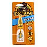 Gorilla Super Glue with Brush & Nozzle Applicator, 13.2 Gram, Clear, (Pack of 1)