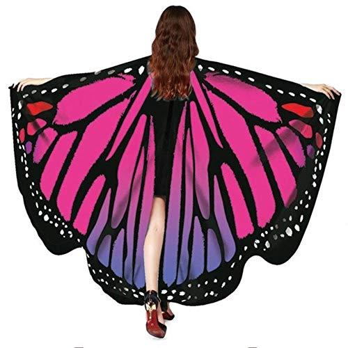 AXspeed - Disfraz de alas de mariposa para mujer y niña, para Navidad, Halloween, cosplay,...