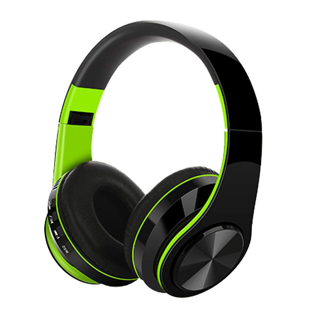 Auriculares Bluetooth Diadema Cascos Inalámbricos con Micrófono Super-Livianos Sonido Nítido Cancelación Ruido Estéreo Manos Libre de 16 Horas de Uso para Samsung iPhone Huawei Xiaomi AX4: Amazon.es: Electrónica