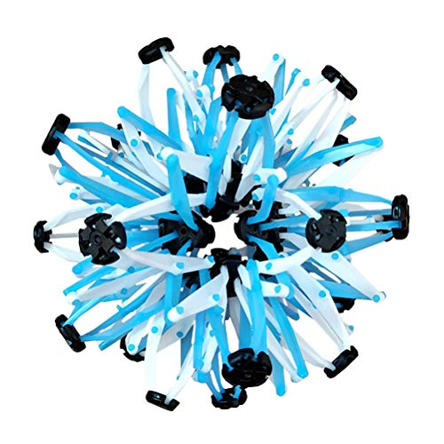 Large Expanding Sphere Hand Catch Breathing Flower Balls Expanding Ball Toys For Children Adults Expandable Ball Fidget Toys Blue