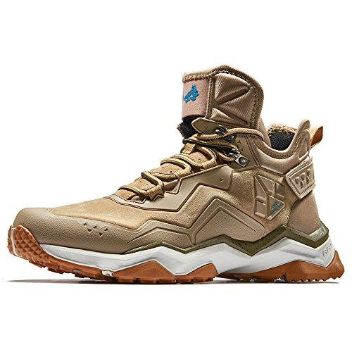 RAX Men's Mid Multifunctional V-tex Waterproof Hiking Boots Outdoor Shoes Light Khaki